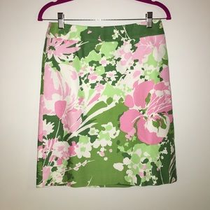 Talbots Fully Lined Floral Pencil Skirt, 2P, EUC